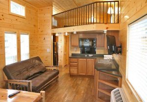luxurious cabin at jellystone