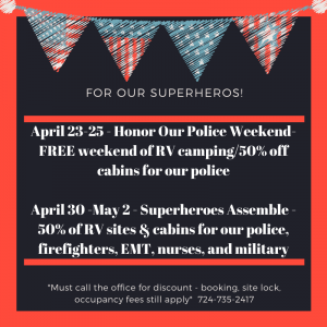 Red and Blue American Flag Military Spouse Appreciation Day Social Media Graphic