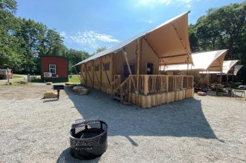 glamping tent exterior